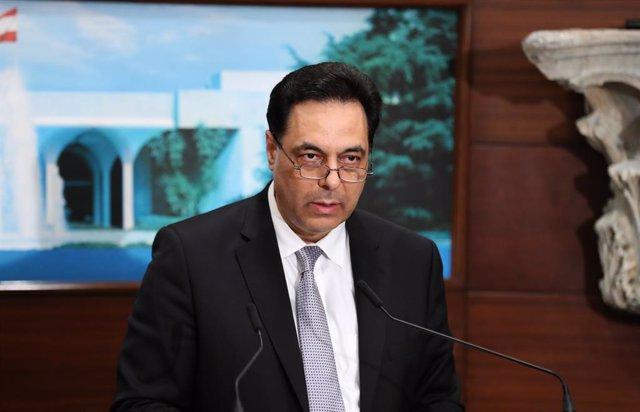Archivo - El primer ministro de Líbano, Hasán Diab