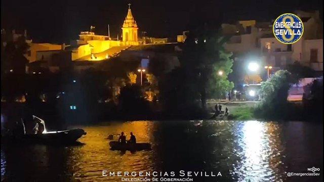 Labores de búsqueda de una persona en el río iniciadas el día 5 de julio