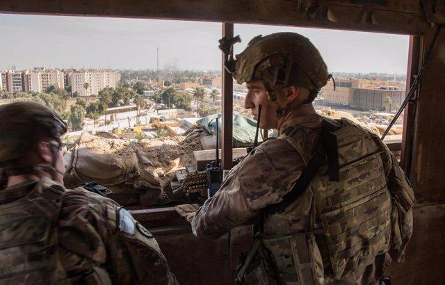 Archivo - Imagen de archivod de militares estadounidenses en la Embajada de EEUU en Bagdad, Irak