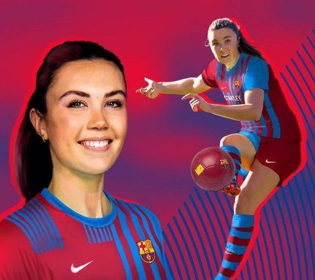 La nueva jugadora del Barça Femení hasta 2023, la centrocampista noruega Ingrid Syrstad Engen