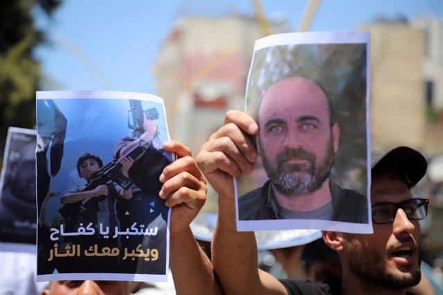 Protestas por la muerte del activista palestino Nizar Banat