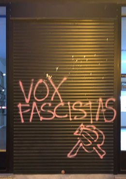 Pintada aparecida en Calahorra contra VOX
