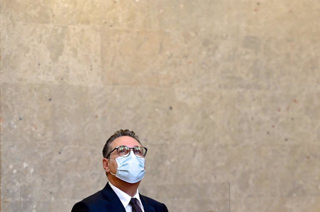 06 July 2021, Austria, Vienna: Heinz-Christian Strache, Former Austrian vice-chancellor and former chairman of the Freedom Party of Austria (FPOe), sits in the large jury courtroom at the Vienna regional court before the start of his trial. Strache is to