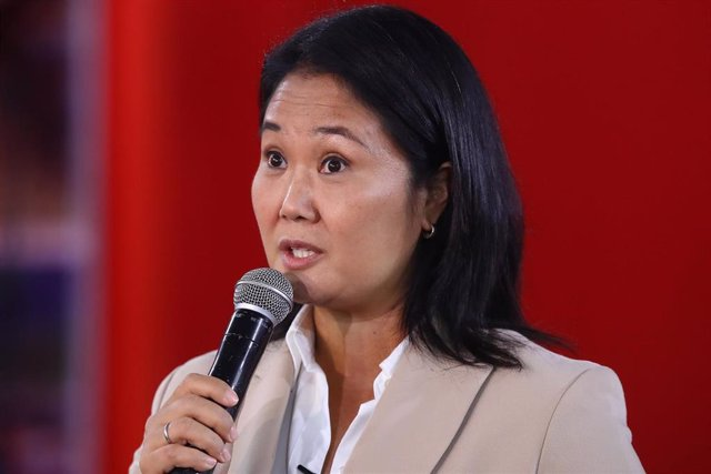 La candidata presidencial peruana por Fuerza Popular, Keiko Fujimori