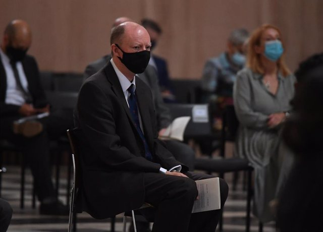 05 July 2021, United Kingdom, London: UKChief Medical Officer Professor Chris Whitty takes his seat at the NHS service of commemoration and thanksgiving to mark the 73rd birthday of the United Kingdom National Health Service (NHS) at St Paul's Cathedral.
