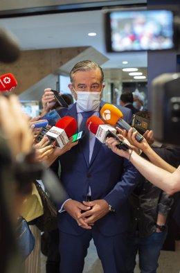 El consejero de Presidencia de la Comunidad de Madrid, Enrique López.