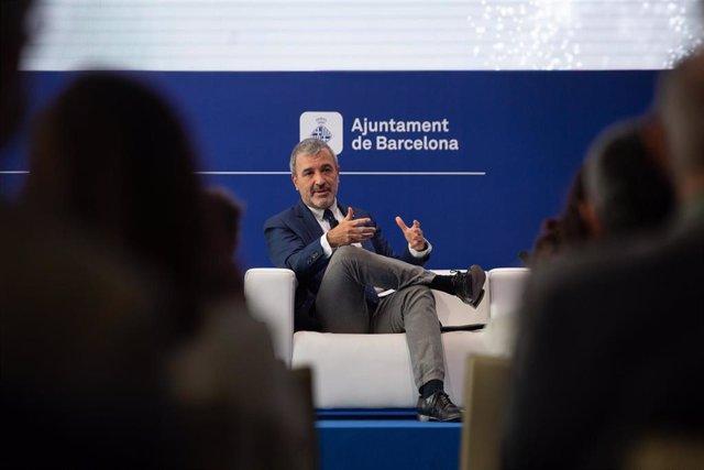 """El teniente de alcalde del Ayuntamiento de Barcelona, Jaume Collboni, interviene en la segunda jornada de la XXXVI Reunión del Cercle d""""Economia, a 17 de junio de 2021, en una foto de archivo."""