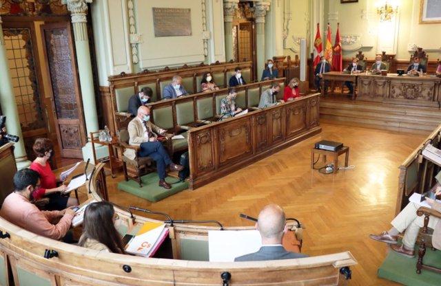 Pleno del mes de julio de 2021 en el Ayuntamiento de Valladolid.
