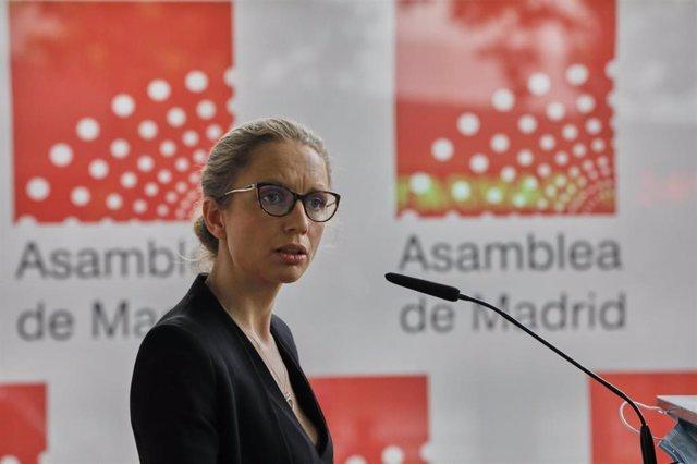 La nueva portavoz de Unidas Podemos en la Asamblea de Madrid, Carolina Alonso