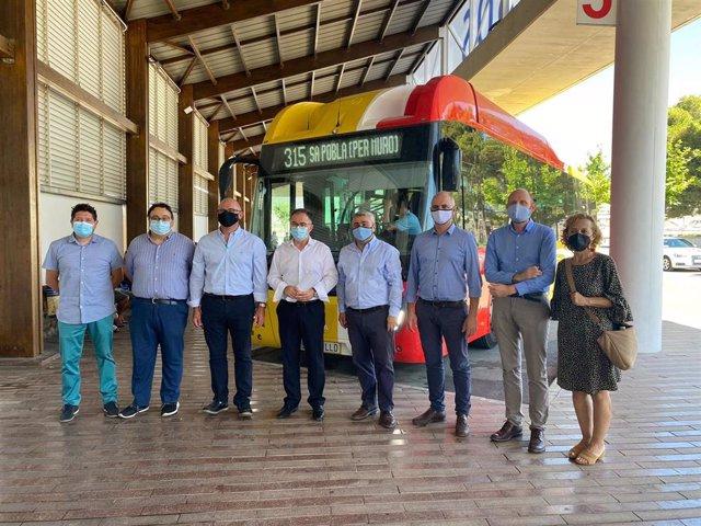 Presentación de la nueva línea de bus 315 que conecta Inca, Sa Pobla y Muro con la bahía de Alcudia
