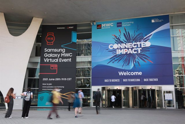 Entrance to MWC21 in Barcelona