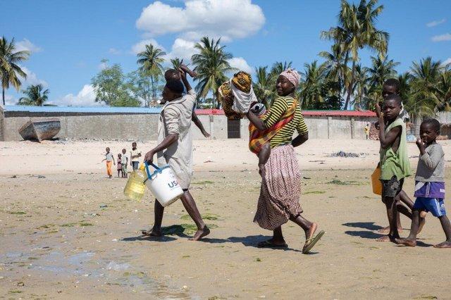 Desplazados en la provincia de Cabo Delgado, en el norte de Mozambique