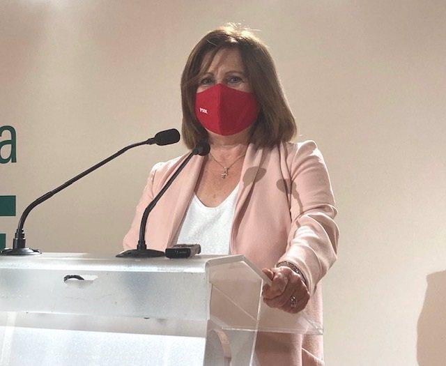 La parlamentaria andaluza del PSOE María José Sánchez Rubio