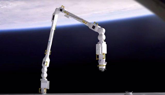 Ilustración de funcionamiento del ERA (Brazo Robótico Europeo)