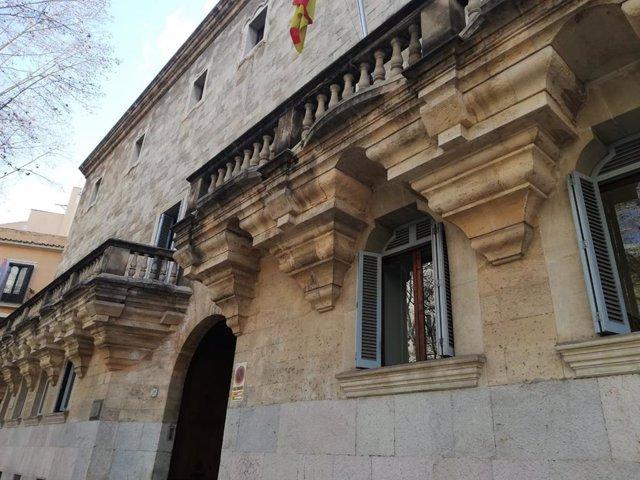 Archivo - El palacio de Justicia, sede de la Audiencia Provincial y el TSJIB.