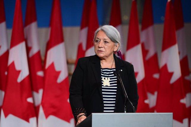 La gobernadora general de Canadá, Mary Simon