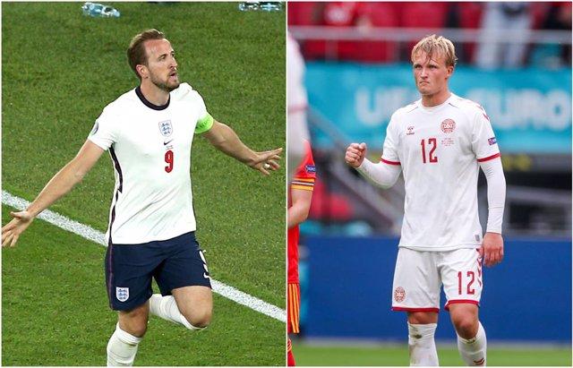 Kane (Inglaterra) y Dolberg (Dinamarca)