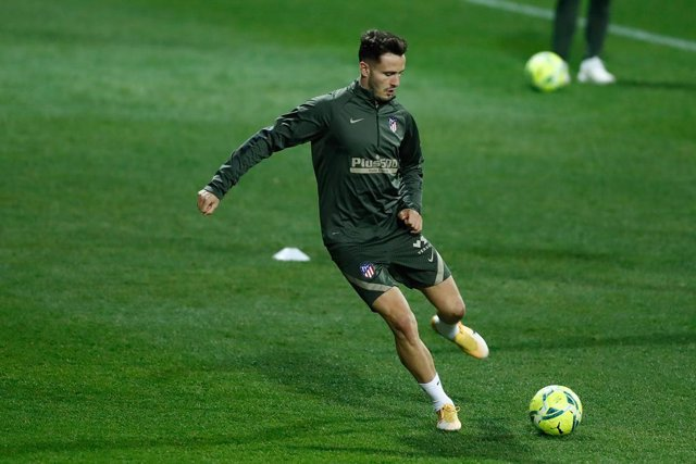 Archivo - Saul Niguez in action during the training session of Atletico de Madrid before the derbi against Real Madrid at Ciudad Deportiva Wanda on december 09, 2020, in Majadahonda, Madrid, Spain