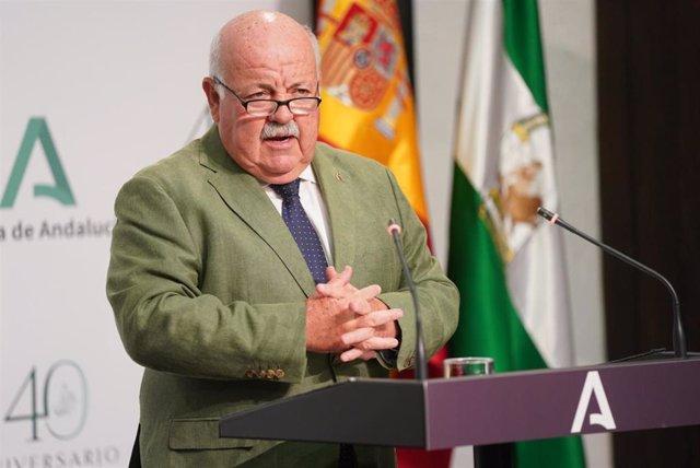 El consejero andaluz de Salud y Familias, Jesús Aguirre , en una foto de archivo.