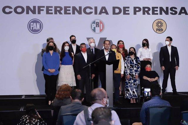 Coalición Va por México para las elecciones regionales de junio de 2021.