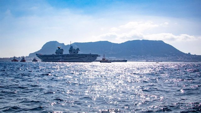 Archivo - HMS Prince of Wales Arrives in Gibraltar