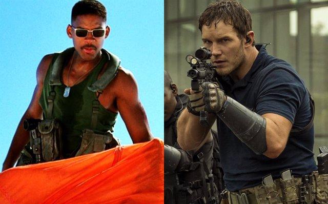 Will Smith en Independence Day y Chris Pratt en La guerra del mañana