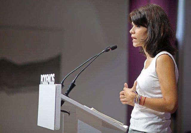 La exportavoz de Podemos Isa Serra.