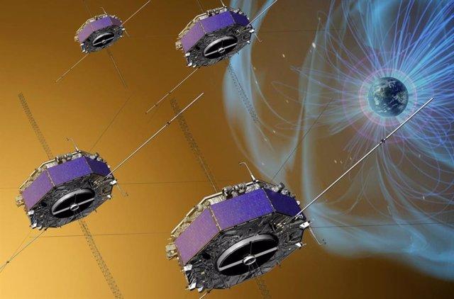 La misión MMS está integrada por cuatro naves idénticas volando en formación
