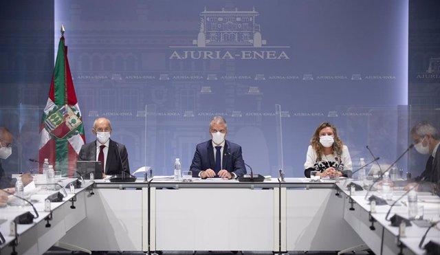 Reunión del LABI, presidida por el lehendakari, Iñigo Urkullu.