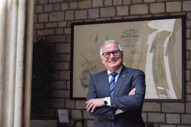 Archivo - El presidente del grupo municipal del PP en el Ayuntamiento de Barcelona, Josep Bou.
