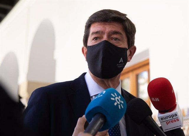 El vicepresidente de la Junta de Andalucía y coordinador de Ciudadanos en Andalucía, Juan Marín, en una imagen de archivo.