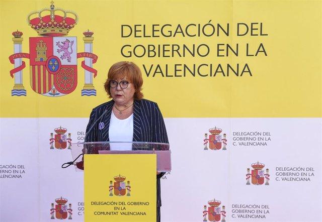 Archivo - La delegada del Gobierno en la Comunitat Valenciana, Gloria Calero, en una imagen de archivo