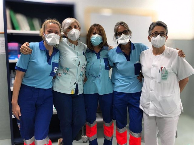 Enfermeras del Centro de Salud de San Hilario