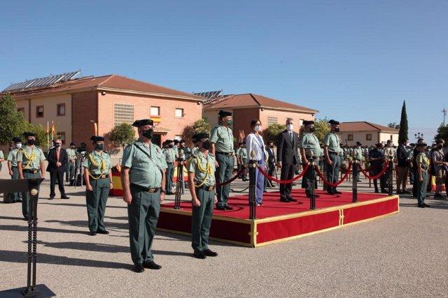 Acto de jura de bandera de la 126 promoción de la Academia de la Guardia Civil en Baeza.