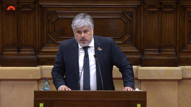 El president de Junts al Parlament, Albert Batet
