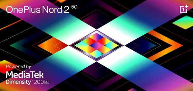Cartel del OnePlus Nord 2 5G con MediaTek Dimensity 1200-AI