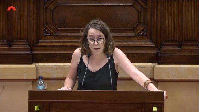 La portaveu de la CUP al Parlament, Eulàlia Reguant