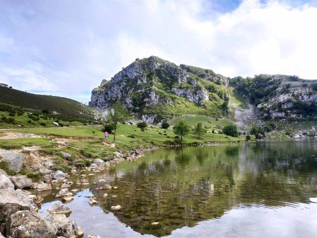 Archivo - Lago Enol, uno de los Lagos de Covadonga, en los Picos de Europa.