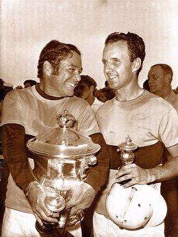 Enrique Zóbel  y Ramón Mora Figueroa, fundadores del Polo en Sotogrande.