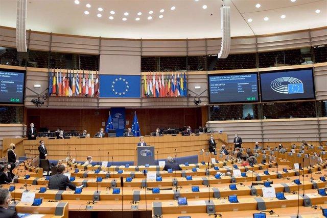 Archivo - Sesión del Parlamento Europeo.