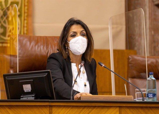 Archivo - La presidenta del Parlamento de Andalucía, Marta Bosquet, en una imagen de archivo.