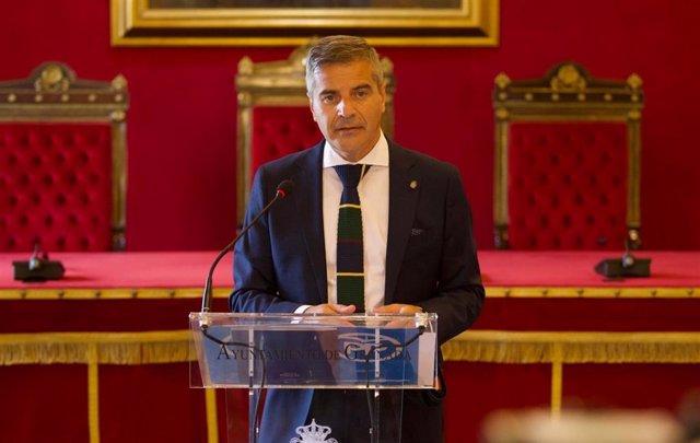 El portavoz del PP en el Ayuntamiento de Granada, César Díaz.