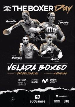 Jonathan Alonso, Jennifer Miranda o Samuel Carmona se suben al ring del Magariños en una velada organizada por The Boxer Club
