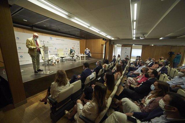 El presidente de AndalucíaEScoop, Juan Rafael Leal, interviene en el  foro organizado por Europa Press con motivo del II Día del Cooperativismo