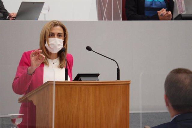 Archivo - La diputada regional del PSOE Carmina Fernández