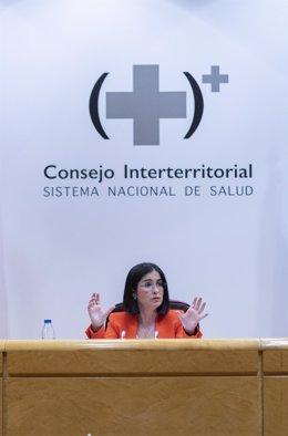 Archivo - La ministra de Sanidad, Carolina Darias