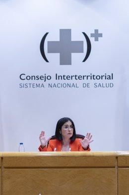 Archivo - Arxivo - La ministra de Sanitat, Carolina Darias