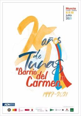 Cartel del Certamen Internacional de Tunas del Barrio del Carmen