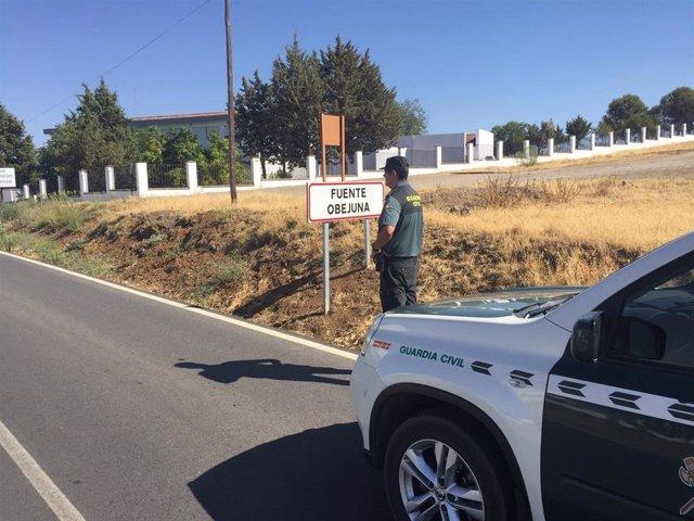 Un agente de la Guardia Civil en Fuente Obejuna.