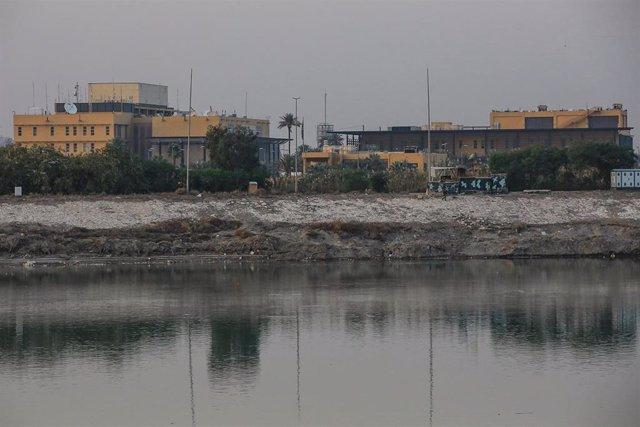Archivo - La Embajada de EEUU en Irak desde la otra orilla del río Tigris